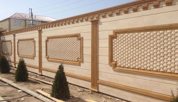Забор из дагестанского природного камня